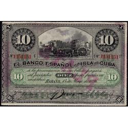 Cuba - Pick 49d - 10 pesos - 15/05/1896 - Etat : SUP