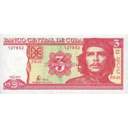 Cuba - Pick 127a - 3 pesos - 2004 - Etat : SUP