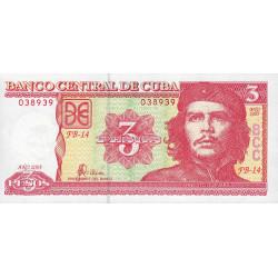 Cuba - Pick 127b - 3 pesos - 2005 - Etat : NEUF