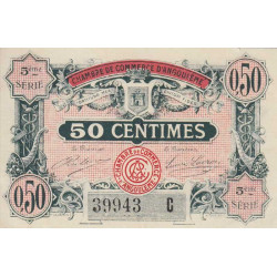 Angoulême - Pirot 9-40 - 50 centimes - 5ème série C - 11/04/1917 - Etat : SPL