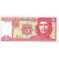 Cuba - Pick 127b - 3 pesos - 2005 - Etat : SPL