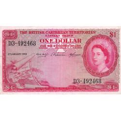 Territ. Anglais des Caraïbes - Pick 7c - 1 dollar - 02/01/1958 - Etat : TTB-