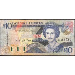 Caraïbes Est - Sainte Lucie - Pick 38l - 10 dollars - 2001 - Etat : TB-