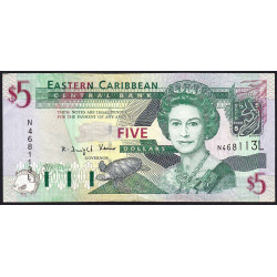 Caraïbes Est - Sainte Lucie - Pick 42l - 5 dollars - 2003 - Etat : TB+