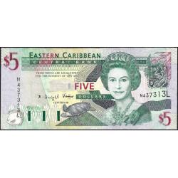 Est Caraïbes - Sainte Lucie - Pick 42l - 5 dollars - 2003 - Etat : TB+
