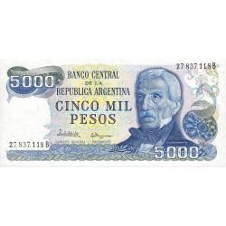 Argentine - Pick 305b1 - 5'000 pesos - Série B - 1977 - Etat : NEUF