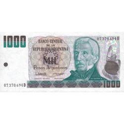 Argentine - Pick 317b - 1'000 pesos argentinos - Série D - 1984 - Etat : NEUF