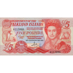 Falkland (iles) - Pick 12 - 5 pounds - 14/06/1983 - Commémoratif - Etat : NEUF