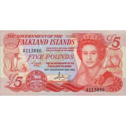 Falkland (iles) - Pick 12 - 5 pounds - Série A - 14/06/1983 - Commémoratif - Etat : NEUF