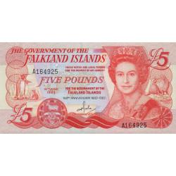 Falkland (iles) - Pick 12 - 5 pounds - Série A - 14/06/1983 - Commémoratif - Etat : SPL