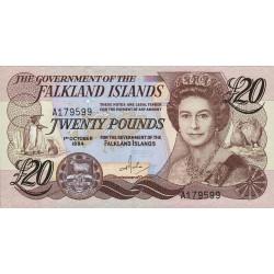 Falkland (iles) - Pick 15 - 20 pounds - 1984 - Etat : NEUF