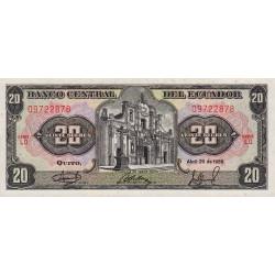 Equateur - Pick 121A_LO1 - 20 sucres - 29/04/1986 - Etat : NEUF