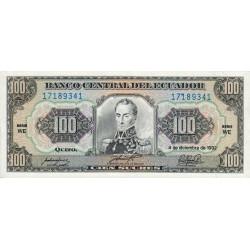 Equateur - Pick 123Ab_WE - 100 sucres - 04/12/1992 - Etat : NEUF