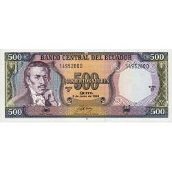 Equateur - Pick 124A_GY - 500 sucres - 1988 - Etat : NEUF