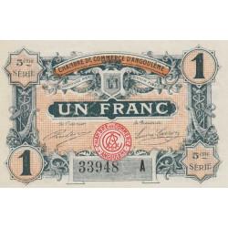 Angoulême - Pirot 9-42 - 1 franc - 1917 - Etat : SPL
