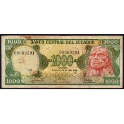 Equateur - Pick 125a_IO1 - 1'000 sucres - 1986 - Etat : TB-