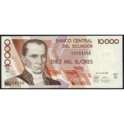 Equateur - Pick 127a_AC - 10'000 sucres - 20/07/1988 - Etat : NEUF