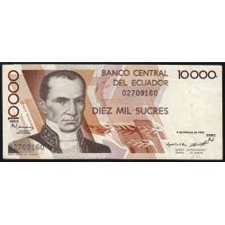 Equateur - Pick 127b_AJ - 10'000 sucres - 1995 - Etat : TTB