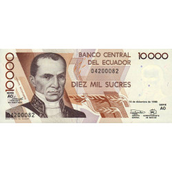 Equateur - Pick 127e_AO - 10'000 sucres - 14/12/1998 - Etat : NEUF