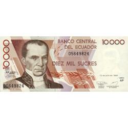 Equateur - Pick 127e_AP - 10'000 sucres - 12/07/1999 - Etat : NEUF