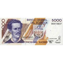 Equateur - Pick 128c3 - Série AO - 5'000 sucres - 12/07/1999 - Etat : NEUF