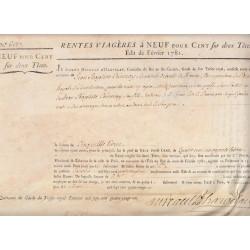 Seine - Paris - Louis XVI - Emprunt royal de 1781 - 9% sur 2 têtes - Etat : SUP