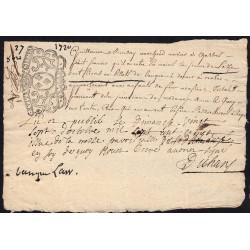 Chartres - Law document - 1600 livres - 27 octobre 1720 - Etat : TTB+