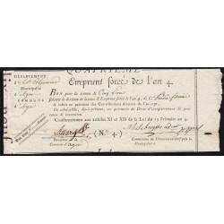 Lot-et-Garonne - Agen - Révolution - 1795 - Emprunt forcé de l'an IV - 5 francs - Etat : TTB+