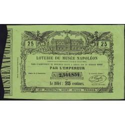 1863 - Amiens - Loterie du Musée Napoléon - 25 centimes - Etat : SUP+