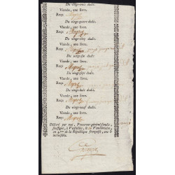 Yvelines - Versailles - Révolution - 1 livre de viande 1795 - Etat : SUP+
