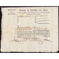 Deux-Sèvres - Mauléon - Louis XV - Vingtième des Nobles 1774 - 24 livres - Etat : TTB