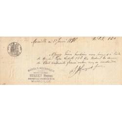 13 - Marseille - Droit prop. - 1886 - 15 centimes - Etat : SUP
