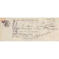 13 - Marseille - Droit prop. - 1890 - 15 centimes - Etat : TTB