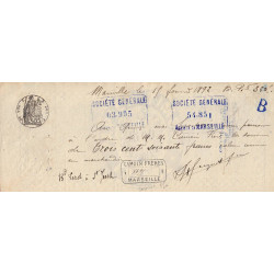 13 - Marseille - Droit prop. - 1890 - 25 centimes - Etat : SUP