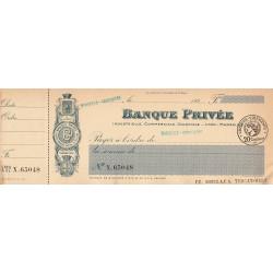 Banque Privée - Marseille - 1927 - Etat : SUP