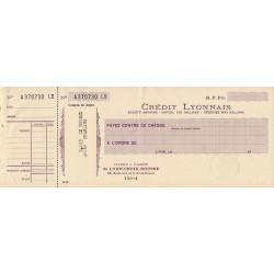 Crédit Lyonnais - 1941 - Etat : TTB+