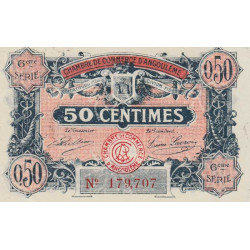 Angoulême - Pirot 9-46 - 50 centimes - 1920 - Etat : SPL