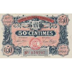 Angoulême - Pirot 9-46 - 50 centimes - 6ème série - 14/01/192 - Etat : SPL