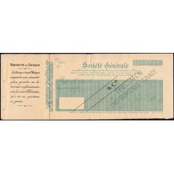 Société Générale - 1920 - Spécimen - Etat : TTB