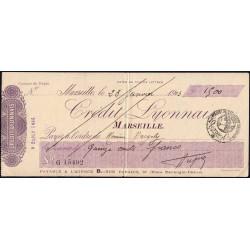Crédit Lyonnais - Marseille - 1923 - Etat : TTB