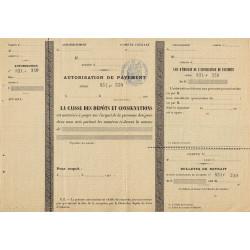 Caisse des Dépôts et Consignation - 1903 - Etat : SUP