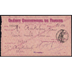 Crédit Commercial de France - 1948 - Etat : TTB