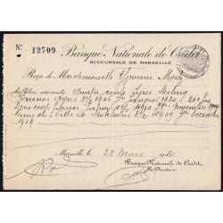 Banque Nationale de Crédit - 1920 - Etat : SUP