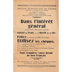 Société Marseillaise de Crédit - 1920 - Etat : TTB