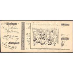 L'art de donner et de recevoir les chèques - 1892 - 8 feuillets - Etat : TTB