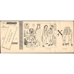 Variation sur le verbe : Toucher le chèque - 1892 - 4 feuillets - Etat : TTB