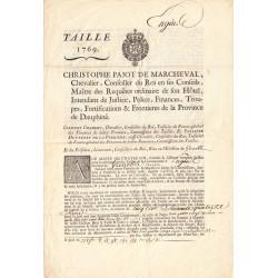 Isère - Grenoble - Louis XV - Taille de 1769 - Etat : SUP
