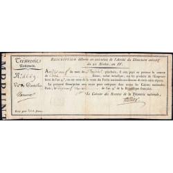 Rescription 55a - 100 francs - 21 nivôse an 4 - Etat : TTB