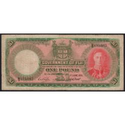 Fidji - Pick 40f - 1 pound - 01/06/1951 - Etat : B+