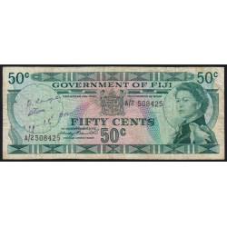 Fidji - Pick 64a - 50 cents - 1971 - Etat : TB